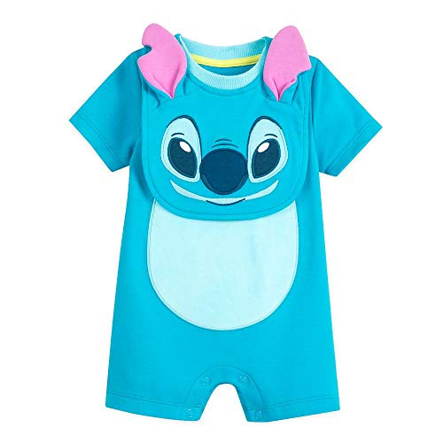 Disney Stitch Costume Romper and Bib Set for Baby, Size 9-12 Months