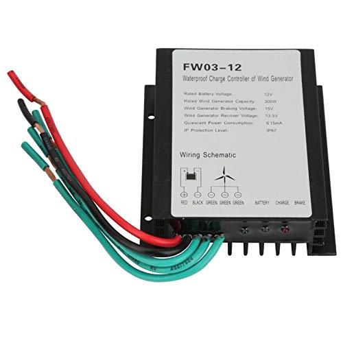 Controlador de carga de viento de 12V IP67 Controlador de generador de viento eléctrico 300W para generadores de viento