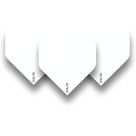 10 SETS OF RUTHLESS R4X WHITE EXTRA STRONG STANDARD DART FLIGHTS