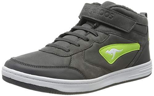 KangaROOS Kalley Ev S Unisex-Kinder Sneaker, Mehrfarbig (Steel Grey/Lime 2014), 36 EU