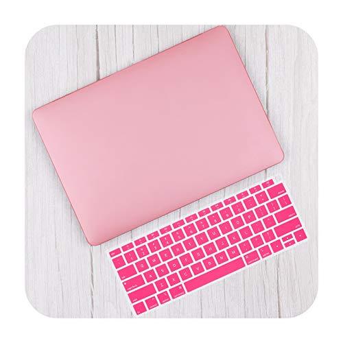 Carcasa rígida de plástico mate de aire de 13 pulgadas A2337 A2179 2020 Pro 13 16 Touch bar A2141 A2338 A2289 Caso+teclado Skin-Pink-Retina13 A1502 A1425