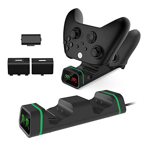 bysonice Cargador de gamepad, base de carga para gamepad, base de carga dual USB, soporte para X Box Series X/S