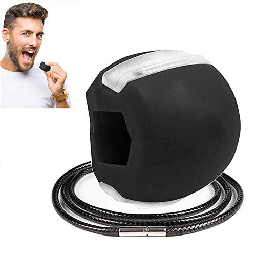Jaw Trainer, Jawline Shaper Face Slimmer,Double Chin Exerciser Ball,Jawline Übung Fitness Ball und Halsbereichs Schwarz