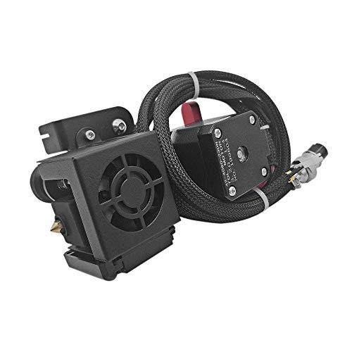 Leslaur Nuovo kit di alimentazione estrusore a filamento da 1,75 mm aggiornato di ricambio con ugello da 0,4 mm Supporto motore testina di stampa Stampa a filamento TPU per Creality CR-10 CR-10S