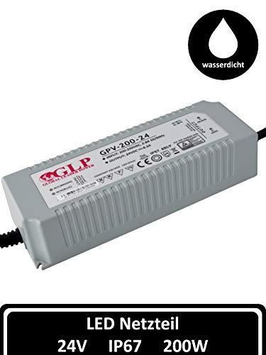 LED Netzteil 24V 8A 200 W Transformator DC IP67 Slim Gehäuse  Trafo LED Beleuchtung  Band Streifen Lampe Licht Röhre  LED Power Driver 24 Volt 200 Watt Strip  Vorschaltgerät Transformatoren