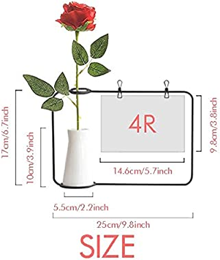 OFFbb-USA Motivation Constellation Love Aries Artificial Rose Flower Hanging Vases Decoration Bottle