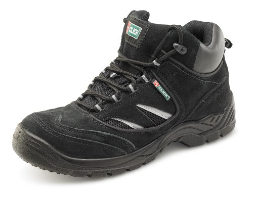 Click Dual Density Trainer Safety Boot Black - Size 6