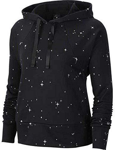 Nike Damen Dry Fleece Get Fit HD STR Hose, Black/Gunsmoke, M