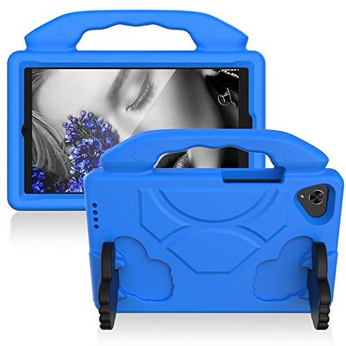 CELULARTE Funda Uso Rudo Anti Shock Niños Samsung Tab A 8.0 Pulgadas SM-T290/T295, EVA con Soporte (Azul)