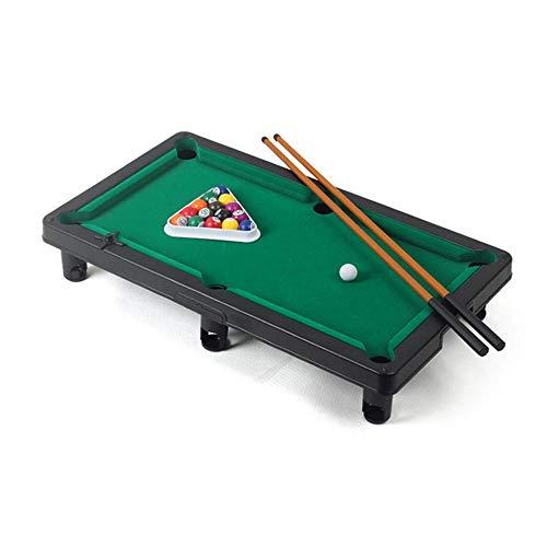 Mini Tischbillard, Tragbarer Kinder-Billardtisch Spielzeuge, Tisch-Snooker Spiel mit Stichwörtern Alles Zubehör