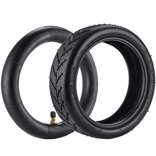 KEESIN 8,5 Zoll Ersatz Innen und Außen Roller Reifen, Rutschfester Verdickter Gummirad Reifen für Xiaomi M365 und andere Elektroroller