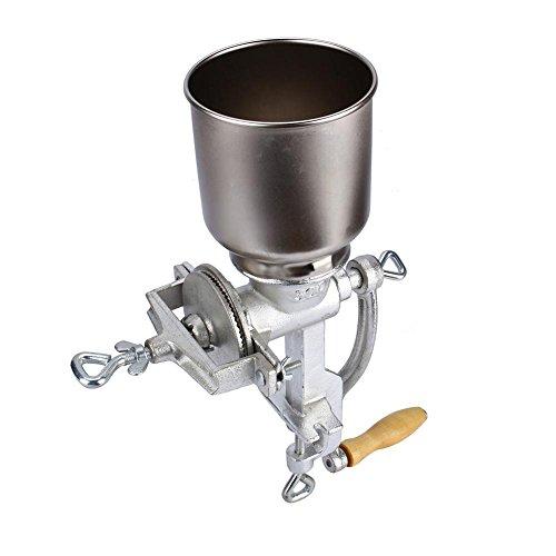 Molinillo manual de cereales de hierro fundido, molino de maíz, café, trigo, manual, grano, nueces, molinillo manivela, 43 x 28 x 16 (cm)