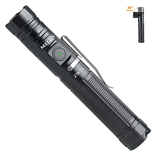 Led flashlight, 1200 high lumensTactical Flashlight,90 Degree pocket flashlight,Waterproof 6 Modes- Superbright Best for Search,Emergency lighting,Camping,Fishing,Hiking,Cycling(Including Battery)