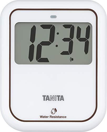 タニタ 非接触タイマー 洗えるタイプ 大画面 100秒 衛生的 手洗い ホワイト TD422WH