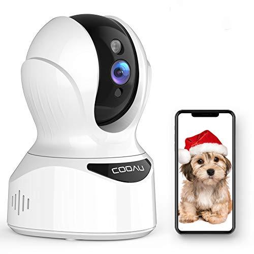 COOAUネットワークカメラ1080P 200万画素IP監視防犯 ペットカメラベビーモニター 高解像度 無線ワイヤレス屋内カメラ自動追跡 顔認識 動体検知音検知 遠隔スマホ操作 動体検知 警報通知 双方向音声 暗視機能 録画可能 猫 犬 子供 老人見守り 留守番 技適認証済み ホワイト