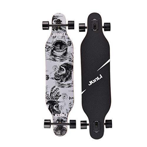 Retro Tricks Skateboards 40 Zoll Longboards Komplette Drop Down durch Deck Cruiser für Erwachsene und Kinder Anfänger 7 Layer Maple Durable