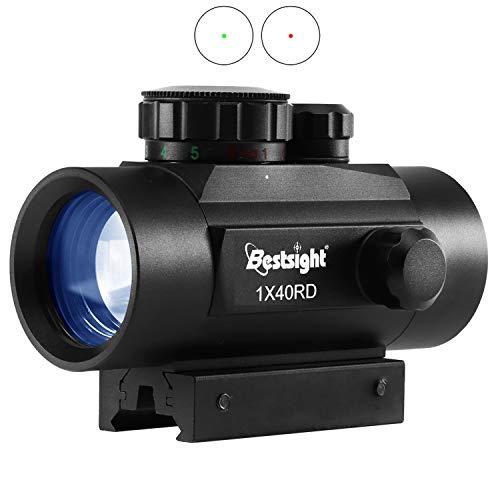JASHKE Airsoft Lunettes de Visée Viseur Point Rouge Airsoft Lunettes de Visée pour Rail 11mm/20mm avec Support et Couvercle