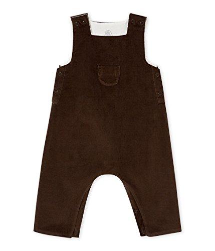 Petit Bateau Baby-Jungen Salopette Longue_4408302 Latzhose, Grau (Pepper 02), 80 (Herstellergröße: 12M/74cm)