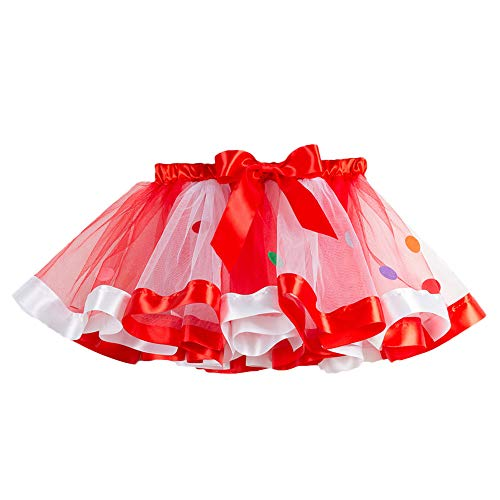 Bumen Damenrock Mädchen Ballett Tutu Tüllrock Partyrock Tütü Rock Regenbogen Spitze Hochzeit Party Kleid