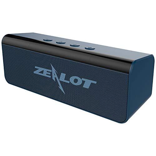 Bluetooth Lautsprecher Tragbar, Zealot S31 Bluetooth 5.0 Speaker Stereo Kraftvollem Klang mit 10h Spielzeit, Unterstützt AUX/TF/USB, Freisprechfunktion für Garten, Campen, Urlaub