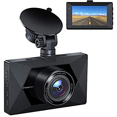 """Dash Cam, Crosstour 1080P Car DVR Dashboard Camera Full HD with 3"""" LCD Screen 170°Wide Angle, WDR, G-Sensor, Loop Recording and Motion Detection (CR300) by Crosstour"""