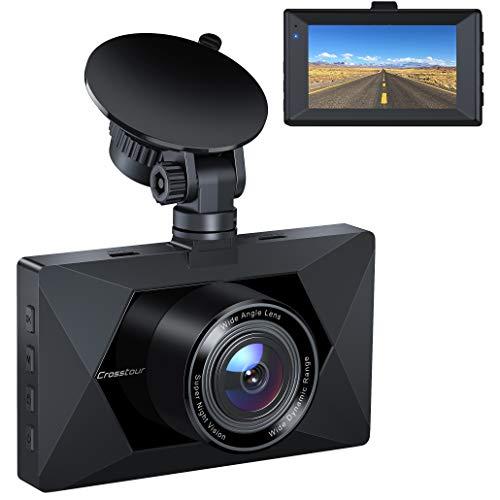 """Dash Cam, Crosstour 1080P Dash Camera for Cars 3"""" LCD Screen Car Camera 170° Wide Angle DVR..."""