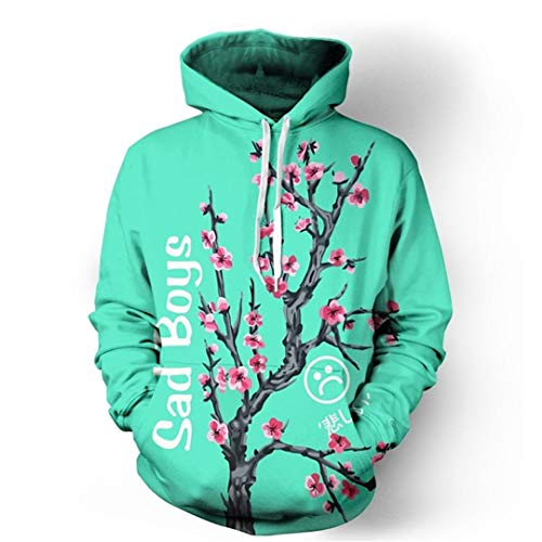 Sad Boy Iced Tea Tree 3D Hoodies Autumn Winter Clothing Pullovers Sweatshirts Hoodies Men M