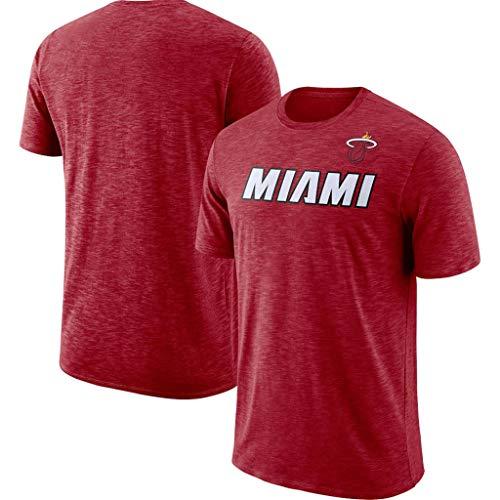 Männer Basketball NBA T-Shirt Miami Heat Fans Jersey Breathable Quick-Dry Leichtathletik Cation Sommerkleidung Für Die Jugend S-XXXL Red-L