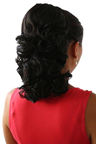 PRETTYSHOP 40cm Haarteil Zopf Pferdeschwanz Haarverdichtung Haarverlängerung VOLUMINÖS natur schwarz #2 PH5