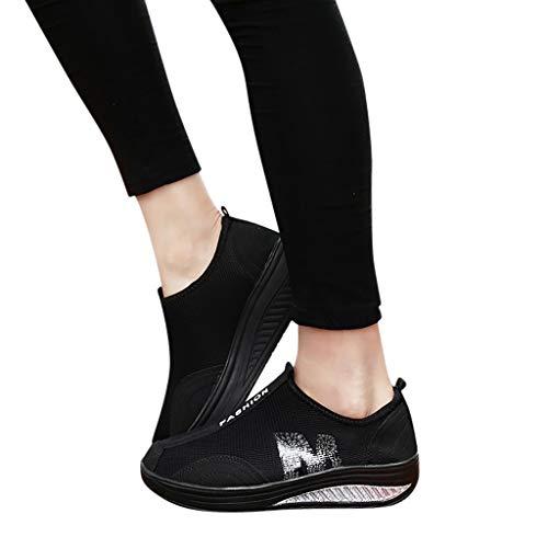 Zapatillas Deportivas MujerFannyfuny Zapatilla de Deporte Mujer Zapatos Cuña Cómodos Mocasines Plataforma Zapatillas Sneaker Calzado Deportivo Primavera Verano