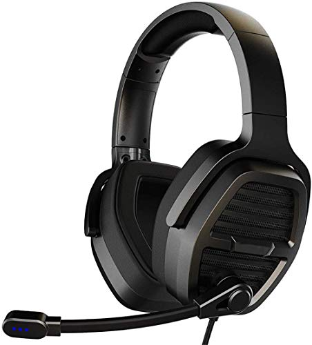 TAOXUE PS4 Headset PC Headset Gaming Kopfhörer Mit LED Licht 3.5Mm Surround Stereo Gaming Headsets Für PC Laptop Schau Video Online Spiele, Mit Flexibler Mikrofon Lautstärkeregelung,Schwarz