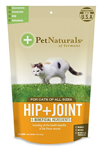 Pet Naturals of Vermont - Hip + Joint for Cats, Daily Hip and Joint Support Supplement, 30 Bite-Sized Chews