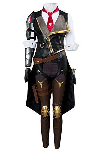 lancoszp Ashe Disfraz para Mujer, Juego de Disfraces para Cosplay, Disfraz de Vaquero Occidental, Conjunto Completo de Cuero