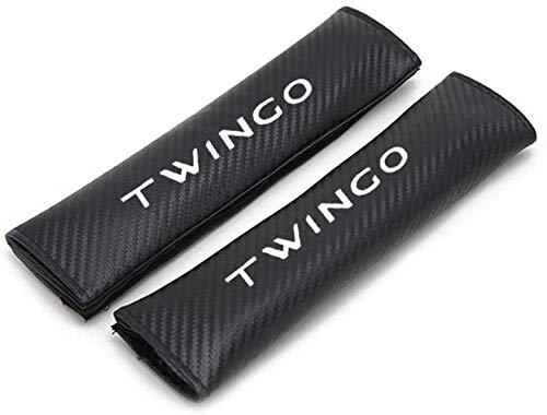 YFBB 2Pcs Car Carbon Fibra Almohadillas Cinturón Seguridad, para Renault Twingo Ajustable Adecuada Adultos Niños Comfort Protection, Auto Seat Belt Shoulder Estilo Accesorios