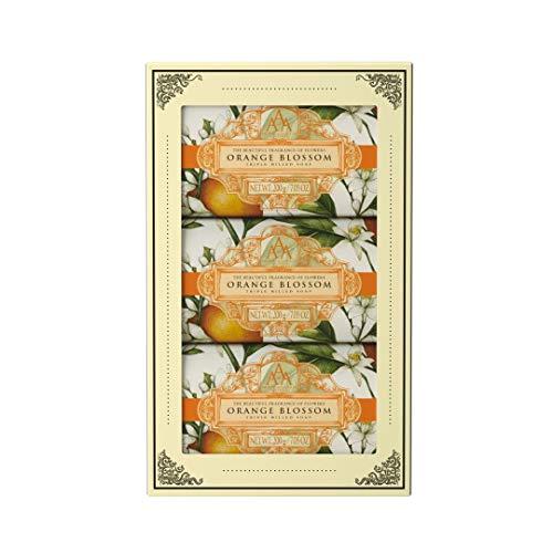 Aromas Artesanales De Artigua Floral Orange Blossom Hand Soap Trio Set - 3 x 200g Soap Bar