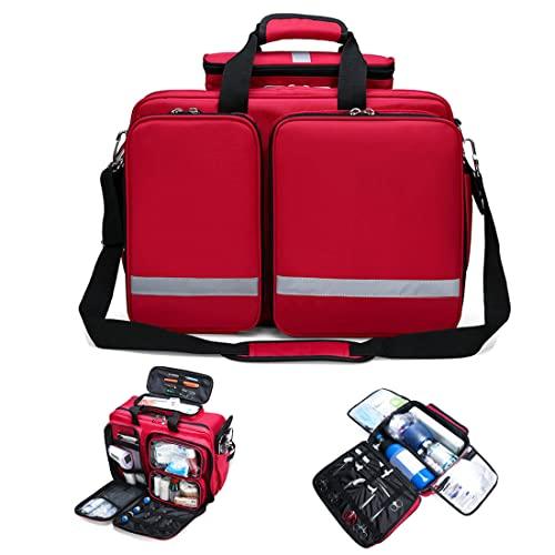 Oeternity Botiquines Compactos De Primeros Auxilios, Bolsa De Emergencia para Traumatismos, Bolsa De Viaje Médica Vacía para Fisioterapeutas, Paramédicos Y Profesionales De La Salud