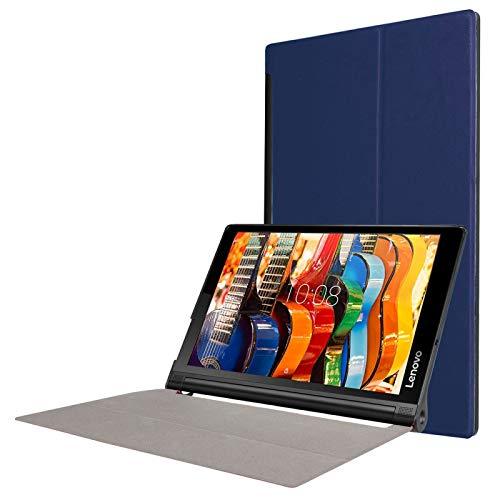 Liaoxig Carcasa de telefono Funda de Cuero en Color Puro de Flip Horizontal de Textura de Custer con Soportes de 3 Plegables para Lenovo Yoga Tab 3 Pro X90L, 10.1 Pulgadas Carcasa de telefono