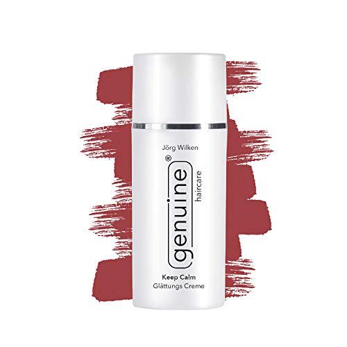 genuine haircare Keep Calm Glättungs Creme, für alle Haartypen, vollwertiger Hitzeschutz für Glätteisen, pflegt/vitalisiert das Haar