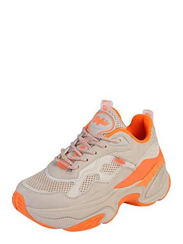 Buffalo Damen Sneaker Crevis P1, Frauen Low-Top Sneaker, weiblich Lady Ladies feminin elegant Women's Women Woman Freizeit leger,BEIGE,38 EU / 5 UK