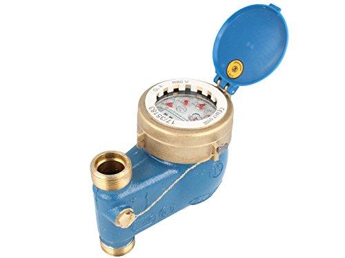 JS Steigrohr Hauswasserzähler MNRS 3/4 Zoll DN 20 Q3=4, R80, Baulänge 105 mm