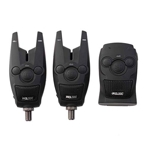 Prologic BAT+ Bite Alarm Blue Set 2+1-2 Bissanzeiger + 1 Receiver zum Karpfenangeln & Raubfischangeln, Karpfenbissanzeiger