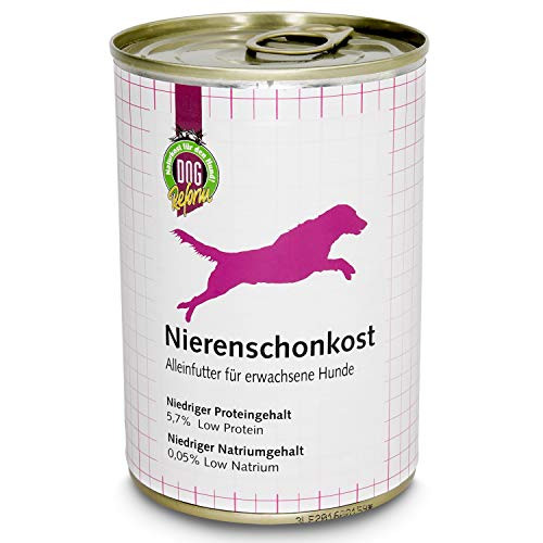 Schecker DOGREFORM Nierenschonkost - Dosenfutter - 48x 410 g - in verschiedenen Sets erhältlich - hilft bei Nierenproblemen - perfektes Alleinfuttermittel