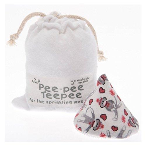 Pee-pee Teepee Sock Monkey White - Laundry Bag
