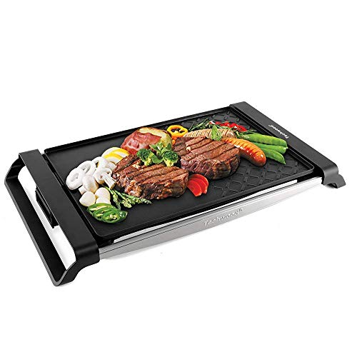 Techwood Raclette Grill Electric Grill Portable BBQ Grill Table Grill Multi-Plate Indoor/Outdoor...
