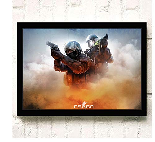 ACUOHU Leinwand Wandkunst Hd Online-Spiele Csgo Poster Und Druck Leinwand Malerei Home Decor Wandbild Kein Rahmen G1124 (50X70Cm)
