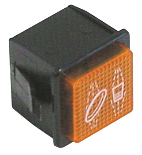 Hoonved signaallamphouder voor vaatwasser CMD52, CM52, CMD43, CM48, E40-2F, T5-80 oranje inbouwmaat 28,5 x 28,5 mm