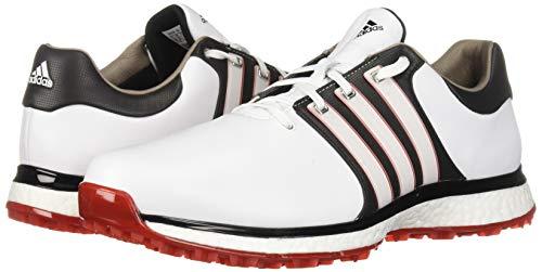 adidas Men's TOUR360 XT Spikeless Golf Shoe, FTWR White/core Black/Scarlet, 9.5 M US