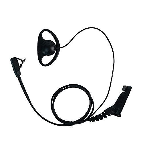 Klykon Motorola Xpr 6550 Earpiece, D Shape Surveillance Ear Piece Headset with Ptt Mic for Motorola 2 Way Radio Walkie Talkie XPR7550 XPR6350 XPR7350 7550e 7580e