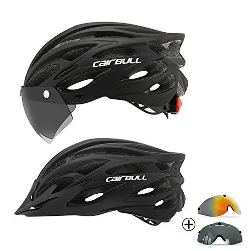 Cairbull Casco de Bicicleta de Ciclismo para Adultos con LED y Dos Juegos de Gafas...
