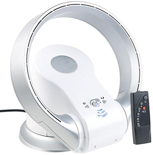 Sichler Haushaltsgeräte Blattloser Ventilator: Rotorloser 360°-Tischventilator & Heizlüfter, Oszillation, bis 1.100 W (Ventilator mit Heizfunktion)